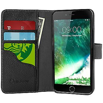 iPhone 7 Case,i-Blason  [Wallet Case] Credit Card ID Holders, Apple iPhone 7 Case,Black