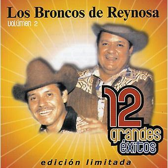 Los Broncos De Reynosa - Los Broncos De Reynosa: Vol. 2-12 Grandes Exitos [CD] USA importerer