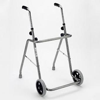 Anota Gray Wheels Folding walker Record (Home , Orthopedics , Mobility)