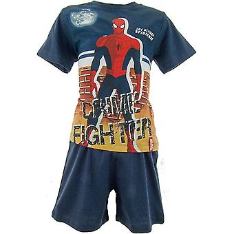 Marvel Spiderman Boys Shortie Pyjamas OE2004
