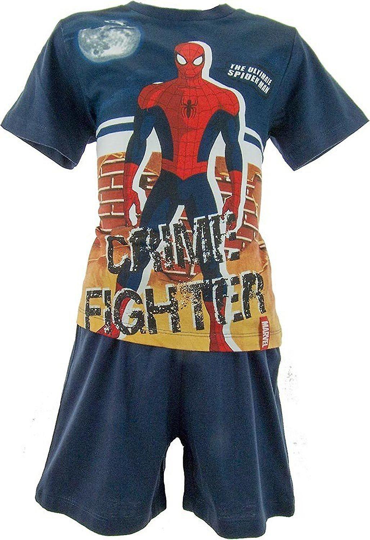 Marvel Spiderman Boys Shortie Pyjamas OE2004