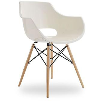 Superstudio Frasco chair Wood Arms Daw-White Inspiration Charles & Ray Eames