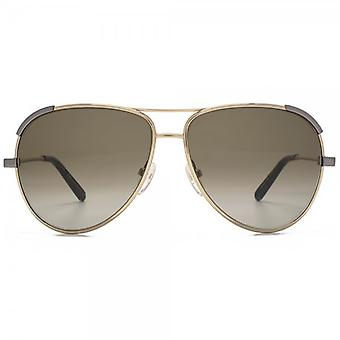 Chloe Eria Pilot Sunglasses In Light Gold Khaki