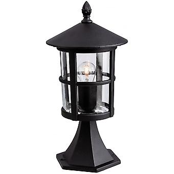 Firstlight Traditional Outdoor Black Pillar Top Lantern