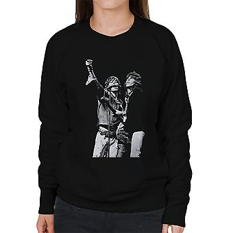 Os Rolling Stones Mick Jagger Keith Richards Rotterdam 1973 camisola mulher