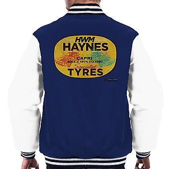 Haynes Brand HWM Ford Capri Specialist Tyres Men's Varsity Jacket