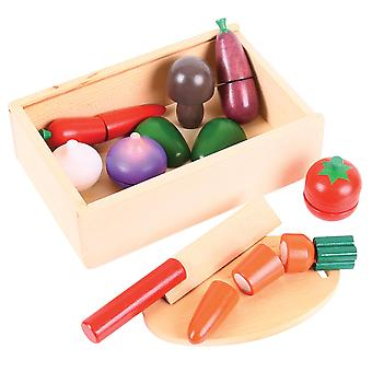 Bigjigs Toys Wooden Cutting Vegetables - Play Food