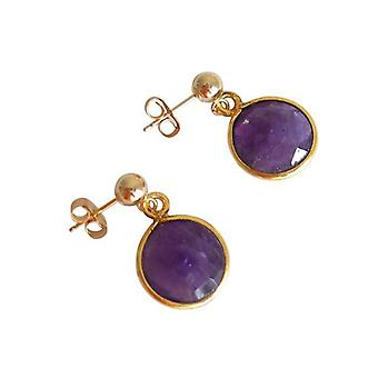 Amethyst gold plated earrings with Amethyst