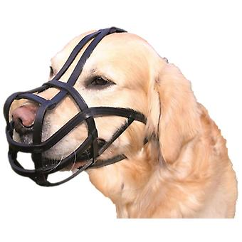 Trixie Muzzle With Ribbons Leather, black (Dogs , Collars, Leads and Harnesses , Muzzles)