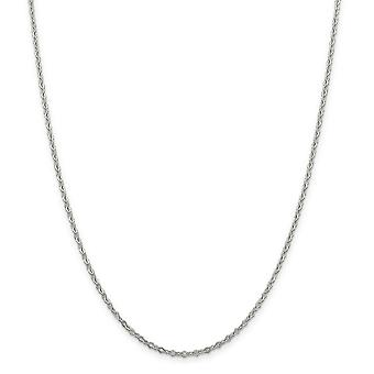 Sterling Silver Polished Sparkle-Cut 2.25mm Fancy Chain Bracelet - Spring Ring - Length: 7 to 8