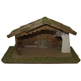 Crib Nativity scene wood Nativity stable James hand work for characters up to 12 cm