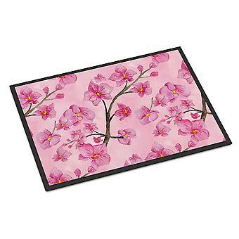 Aquarell rosa Blumen Indoor oder Outdoor Mat 18 x 27