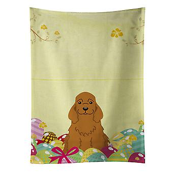Carolines Treasures  BB6095KTWL Easter Eggs Cocker Spaniel Red Kitchen Towel