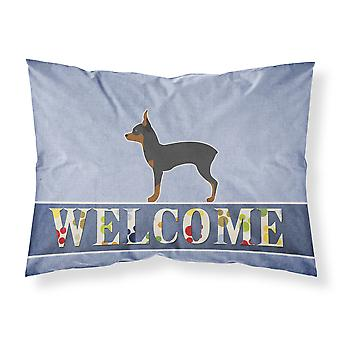 Toy Fox Terrier Welcome Fabric Standard Pillowcase