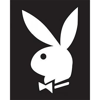Playboy - BW Bunny Poster Poster Print