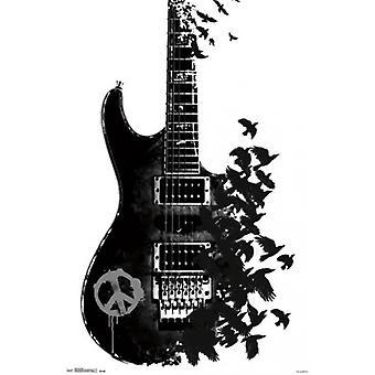 Crow Guitar plakat plakat Print