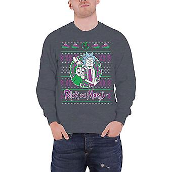 Rick And Morty Christmas Jumper Sweatshirt Christmas Portal Official Mens