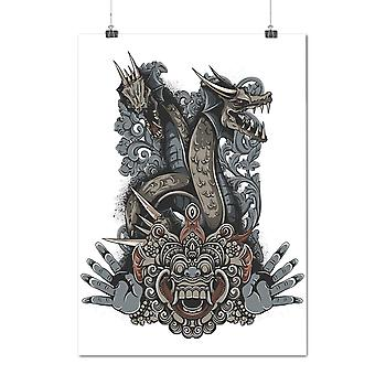 Matte or Glossy Poster with Japanese Monster Fantasy | Wellcoda | *d1258