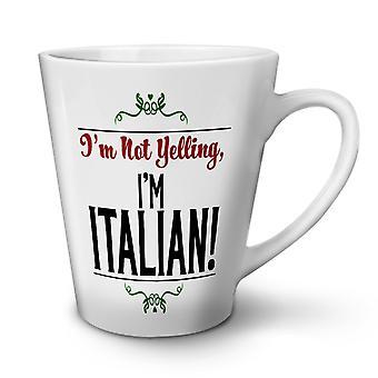 Italienischen Witz neue weißer Tee Kaffee Keramik Latte Becher 17 oz   Wellcoda