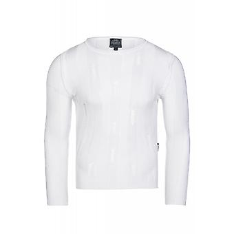 CARISMA cut sweaters men's Undershirts white ripped