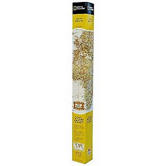 World Executive Map Poster Sized Boxed  Wall Maps World by National Geographic Maps