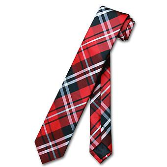 Vesuvio Napoli Narrow NeckTie Skinny PLAID Men's 2.5