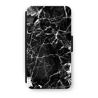 Samsung Galaxy S6 Edge Flip Case - zwart marmer 2