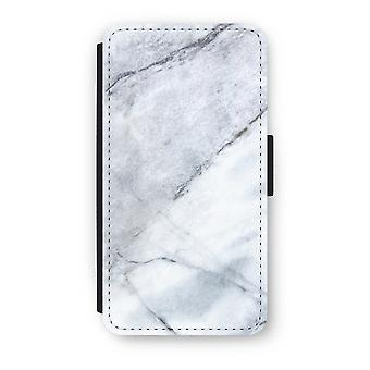 iPhone X Flip Case - marmor hvit