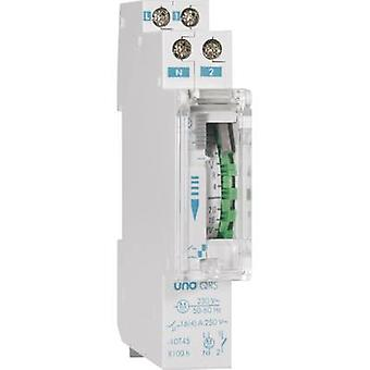DIN rail mount timer analogue Suevia UNO QRS 230 Vac