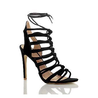 Ajvani damskie szpilki strappy koronki do wyciąć ghillie klatkach sandały buty