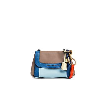 Marc Jacobs women's M0013637497 blue / brown leather shoulder bag
