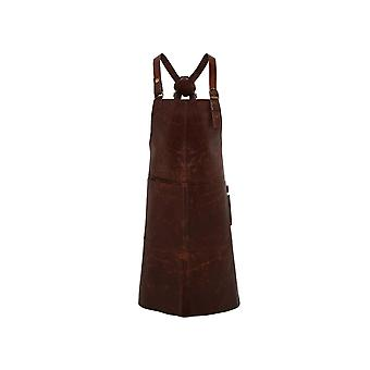 Premier Artisan Leather Cross Back Bib Apron