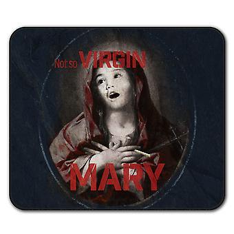 Virgen María Cool divertido ratón antideslizante alfombra Pad 24 cm x 20 cm | Wellcoda