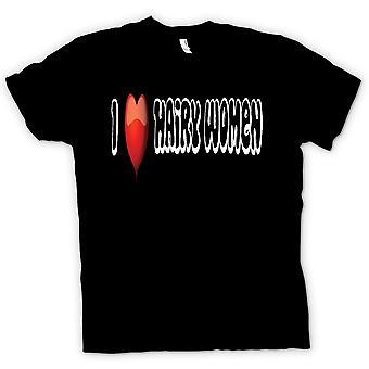 Ik hou van behaarde vrouwen - grappige T Shirt