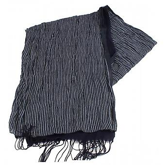 Bassin and Brown O Brian Reversible Stripe Scarf - Navy/White