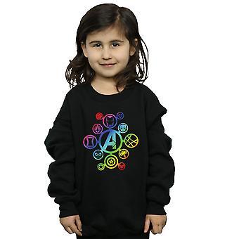 Marvel Girls Avengers Infinity War Rainbow Icons Sweatshirt