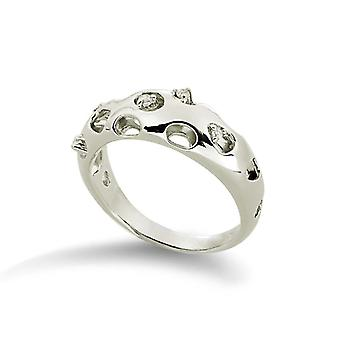 Orphelia Silver 925 Ring  Zirconium Open Back  ZR-3570