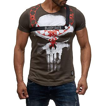 Мужская рубашка с короткими рукавами O-шеи футболку BLODY Дата печати