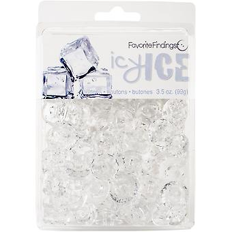 Clamshell Buttons 3.5Oz-Ice