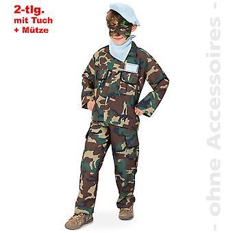 Traje de soldado niños camuflaje del traje de niño de ejército de Dunschelkämpfer