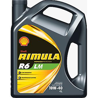 Shell 550020039  Rimula R6 Lm 10W 40 4Ltr Low Emissions Synthetic Diesel Oil
