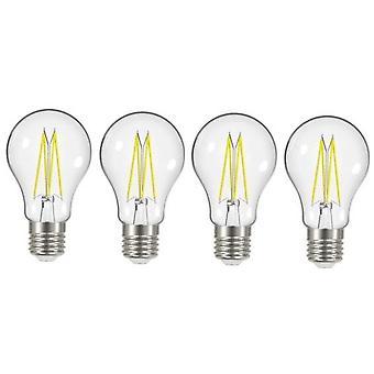 4 X Energizer 8W = 75W LED Filament GLS Light Bulb Lamp Vintage ES E27 Clear Edison Screw [Energy Class A+]