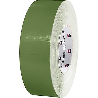 Heavy duty tape 80DT Olive green (L x W) 50 m x 50 mm TOOLCRAFT