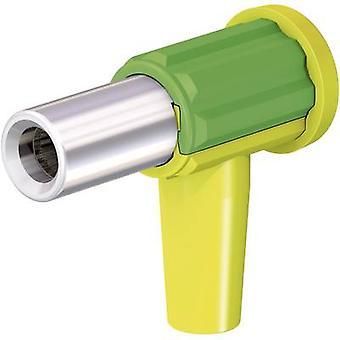 Stäubli GPAO-KBT6-EC/4 douille femelle, vert-jaune à angle droit 1 PC (s)