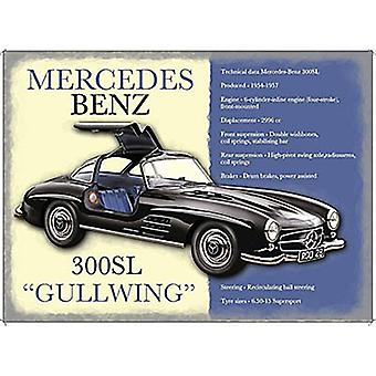 Mercedes 300Sl Gullwing Small Metal Sign 200Mm X 150Mm