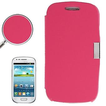 Cell phone cover case for Samsung Galaxy S3 mini i8190 / i8195 / i8200 pink brushed