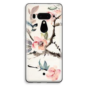 HTC U12+ Transparent Case (Soft) - Japenese flowers