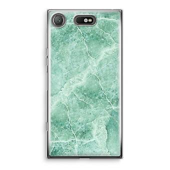 Sony Xperia XZ1 kompakt gjennomsiktig sak (myk) - grønn marmor