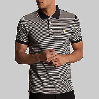 Lyle & Scott Feeder Stripe Polo Shirt True Black