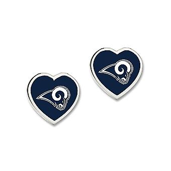 Wincraft ladies 3D heart Stud Earrings - NFL Los Angeles Rams